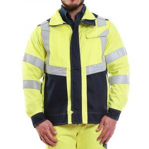 chaqueta ignífuga unisafe FR Risk High Visibility